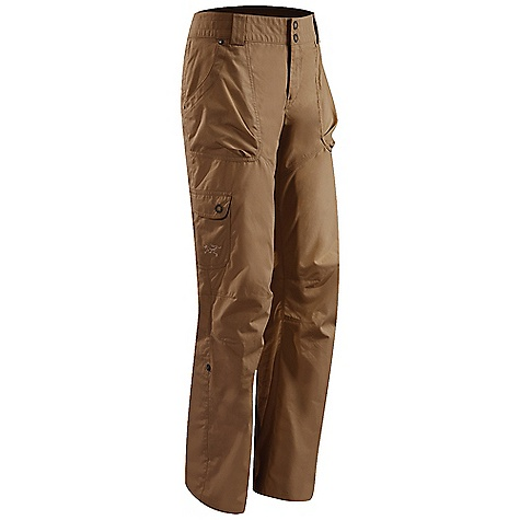 Free Shipping. Arcteryx Women's Rana Pant DECENT FEATURES of the Arcteryx Women's Rana Pant Breathable Durable, lightweight cotton/nylon blend canvas Articulated knees Gusseted crotch Front fly with snap closure Thigh pocket with flap and snap closure Two rear pockets Two hand pockets with volume pleats, one cargo pocket, two back pockets Rivets on stress points add durability Bar tack reinforced seams Embroidered logo Low-rise waist Belt loops Roll up hem with snaps for added versatility Wide waist band Activity: All Around We are not able to ship Arcteryx products outside the US because of that other thing. We are not able to ship Arcteryx products outside the US because of that other thing. We are not able to ship Arcteryx products outside the US because of that other thing. The SPECS Weight: (M): 10.9 oz / 310 g Fit: Athletic Fabric: 3.8 oz Canvas - 68% cotton, 32% nylon Inseam: 81 cm Care Instructions Machine wash in cold water or dry clean Wash dark colors separately Do not use fabric softener Tumble dry on low heat Iron on low heat This product can only be shipped within the United States. Please don't hate us. - $98.95