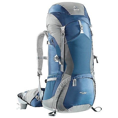 Free Shipping. Deuter ACT Lite 65 + 10 Pack DECENT FEATURES of the Deuter ACT Lite 65 + 10 Pack Anatomically Shaped shoulder straps: with 3D-AirMesh cover Anatomically Shaped X-Frame: creates a comfortable, flexible construction for medium to heavy loads, 1/2in. stays 40-50 liter; 1in. stays 60-65 liter Variquick: customize your fit by making your individual height adjustment Breathable Hollow Chamber Foam: blends superior ventilation via a pump effect that circulates air through the cushions The result is a snug fitting, stable carry and a reduction of perspiration by 15% Anatomically Cut Hip Belt: with bilaminate foam provides great load transfer and offers freedom of movement Alternative Varquick Shoulder Harnesses: available to customize fit Aircontact Back System Variquick Adjustable Shoulder Harness Bottom Compartment Access with Internal Zip Divider Large Front Stretch Stuff-it Pocket Hollow-core Aluminum X-Frame Ice Axe and Trekking Pole Attachments Hydration Compatible liter Extension Top and Bottom Lid Pockets Stretch-woven Side Pockets Hip Belt Pocket Height Adjustable Lid SOS Label Pull Forward Hip Belt Straps The SCEPS Carry Capacity: 50 lbs / 23 kg Torso Length: Adjustable: 15 - 21in. / 38 -  53 cm Volume: 3970 cubic inches / 65 liter (+10 liter Extension Collar) Weight: 3 lbs 14 oz / 1.76 kg Dimension: (H x W x D): 31 x 14 x 13in. / 80 x 36 x 33 cm Material: Ripstop 210 / Duratex Lite Aluminium Stays: 1in. X-Frame OVERSIZE ITEM: We cannot ship this product by any expedited shipping method (3-Day, 2-Day or Next Day). Even if you pick that option, it will still go Ground Shipping. Sorry for being so mean. - $199.00