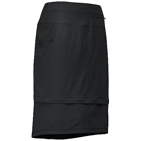 Free Shipping. Outdoor Research Women's Ferrosi Skirt DECENT FEATURES of the Outdoor Research Women's Ferrosi Skirt Water Resistant Wind Resistant Breathable Durable Zip-Off Lower Hem for Adjustable Coverage Front Slash Pockets with Button Closures Hidden Zippered Passport Pocket at Waist Invisible Zipper at Side The SPECS Weight: 9.7 oz / 275 g Fit: Standard Length: 26in. / 66 cm, Total Length / 18 in. / 46 cm Zip Off Length 86% ripstop, 14% spandex, stretch-woven This product can only be shipped within the United States. Please don't hate us. - $88.95