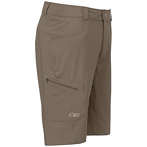 Free Shipping. Outdoor Research Men's Contour Short DECENT FEATURES of the Outdoor Research Men's Contour Short Water Resistant Quick Drying Wind Resistant Breathable Durable Belt Loops Snap and Zipper Fly Low-Profile Waist Fits Under Harness Front slash Pockets Zippered Thigh Pocket The SPECS Weight: (L): 8.3 oz / 235 g Fit: Standard Inseam: 11in. / 27.9 cm 91% Nylon Cordura, 9% Spandex stretch-woven This product can only be shipped within the United States. Please don't hate us. - $74.95