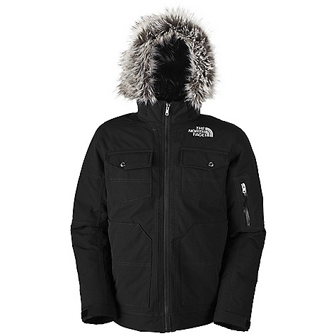 On Sale. Free Shipping. The North Face Men's Yellowband Parka DECENT FEATURES of The North Face Men's Yellowband Parka Waterproof, breathable, fully seam sealed Chest pockets with snap closure Zippered hand pockets Removable faux fur trim at removable insulated hood Sleeve pocket Adjustable snap cuffs Interior security pocket Embroidered logo at left chest and back right shoulder The SPECS Average Weight: 52.2 oz / 1480 g Center Back Length: 29in. Body: 400D x 480D 220 g/m2 HyVent 2L-100% nylon canvas Insulation: 550 fill down This product can only be shipped within the United States. Please don't hate us. - $193.99