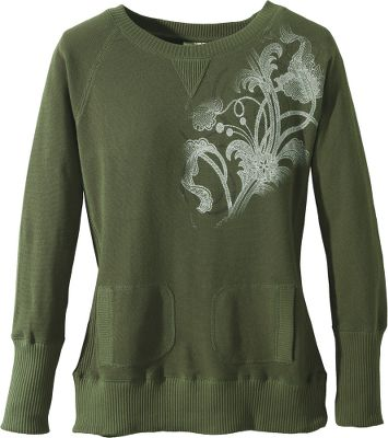 Made of a soft, light waffle knit, this sweatshirt is the ideal weight for three-season wear. A subtle floral pattern gives it a distinctly feminine look. Boat neck makes this sweatshirt ideal for layering. Rib-knit cuffs and hem. Handwarmer pockets. 80/20 cotton/polyester. Imported. Sizes: S-2XL. Colors: Concrete, Diesel, Green. - $19.88