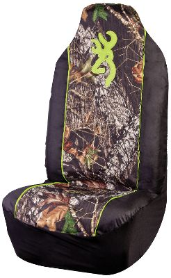 Hunting Customize your vehicle while protecting your seats with this universal-fit seat cover. Crafted of rugged, heavy-duty polyester thats treated to protect upholstery from water, stains and dirt. Breathable foam backing ensures year-round comfort. Integrated seat-belt opening. Imported. - $34.99