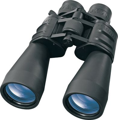Hunting Porro-prism binoculars with BK-7 prism glass, fully coated optics and a 60mm, objective lens diameter for increased light transmission. 10-30X zoom-power magnification with a convenient center focusing system makes it possible to find your subject at lower magnifications and then zoom in to view at higher magnifications. Fold-down lens cups with aluminum body can take the abuse in the field. Tripod adaptable. - $99.99