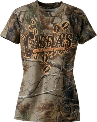 Hunting Covered with deer tracks, this shirt is ideal for the young whitetail enthusiast. 60/40 cotton/polyester. Machine washable. Imported. Sizes: S-XL.Camo pattern: Realtree AP. - $19.99