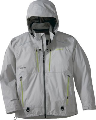 Fishing Intense saltwater-fishing conditions call for the highest-quality windproof and waterproof outerwear. The ultralightweight and breathable 40-denier nylon shell of our Guidewear Mens Tidal Jacket with GORE-TEX sports GORE-TEX fabric and a durable water-repellent finish, keeping you dry and comfortable. GORE-TEX-taped seams ensure moisture wont penetrate the shell. Front closure contains an AquaGuard waterproof zippers lock moisture out. Articulated sleeves for ease of casting. 3Mreflective fabric to enhance visibility and safety. Imported. Sizes: S-5XL. Colors: Wave Blue, Taupe Grey. Size: Small. Color: Wave Blue. Gender: Male. Age Group: Adult. Material: Nylon. - $149.88
