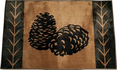 Entertainment Give your bathroom a touch of the outdoors with a Pine-Cone Rug with pine-needle trim from HiEnd Accents. 100% polyester. Imported. 36L x 24W. - $35.99