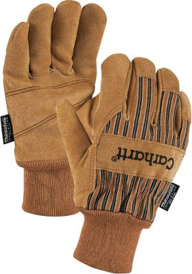 Hunting Rugged, 100% cotton duck canvas gloves reinforced with suede patches on the palms, thumbs and across the knuckles for long-wearing durability. Thinsulate Insulation for added warmth. Available with soft-knit cuffs for protection against debris. Imported. Sizes:M-2XL.Color: Brown. Carhartt Style No.: A512. - $15.00