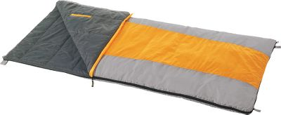 Camp and Hike The Cheyenne +40 is a lightweight rectangular bag for when temperatures stay up. These highly compressible sleeping bags are an exceptional value. Shell is made of tough 210T polyester diamond ripstop. Lining is made of soft, durable 210 polyester. No. 5 self-repairing zippers. Compression stuff sack included. Imported. - $59.88