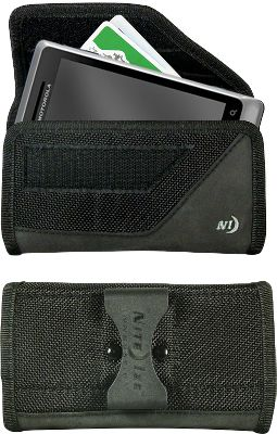 Protect your cell phone and keep it securely in place with this rugged, convenient holster. Fits most cell-phone shapes and styles. Internal pocket secures credit cards, ID and cash. The sturdy flex clip locks it to your waistband, belt or pack straps up to 2-3/16. Secure hook-and-loop closure.Dimensions: 5.5L x 3W x 1.7D.Camo pattern/color: Mossy Oak, Black. - $11.69