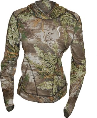 Hunting Layer up with this lightweight, form-fitting hoodie. Its made of breathable, moisture-wicking birdseye polyester for comfort. Two zippered front pockets. Sleeve thumb holes. Pris logo on chest. Imported.Sizes: XS-XL.Camo patterns: Realtree MAX-1, Realtree AP. - $79.99