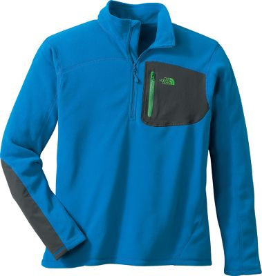 A detail-packed delta version of the popular TKA 100 pullover, featuring Polartec Classic 100 fleece and a TNF Apex zippered chest pocket. Polartec Classic 100 is 18% warmer and 40% more thermally efficient than old TKA 100 fleece, and it's also 41% more breathable for high-activity comfort and layering. It still offers the same quick-drying, moisture-wicking performance that made the original an outdoor essential. Made of 100% polyester for unbeatable softness and long-lasting pill resistance. Pocket overlay is 87/13 nylon/elastane with a durable water-repellent finish. UPF rating of 30. Pop color zippers and toggles. Imported.Sizes: M-2XL.Colors: Deep Water Blue/Boulder Blue, Graphite Grey/Molten Red. - $55.00