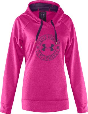 Fitness Proudly sport a big UA logo and enjoy advance comfort technology. Made of ColdGear quick-drying, antimicrobial fabric, it transports moisture away from skin and actively fights odors for all-day freshness. Its hard-faced polyester fleece exterior delivers a clean, sharp look, and its inner surface is brushed for heat-trapping softness. Crafted of 100% polyester. Imported. Sizes: S-XL. Colors: Honeysuckle, Jewel. - $51.88