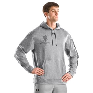"Fitness Armour(R) Fleece hoodies are an Official Wounded Warrior Project Licensed productBetween August 2012 and December 2014, Under Armour(R) will make a donation of over $1 Million to Wounded Warrior Project(TM)  benefiting injured service members and their familiesSignature Armour(R) Fleece fabrication combines a brushed inner layer with a smooth, fast-drying outer layerSoft interior traps heat for superior warmth without adding weight or bulkAdvanced moisture management technology keeps you more comfortableThree-piece hood construction delivers maximum comfort and superior fitFront kangaroo pocket for warmthWWP logo on front, large logo on back and ""Wounded Warrior Project(R)"" text on left sleeve so there's no mistaking your show of support5.0 oz. PolyesterImported - $44.99"