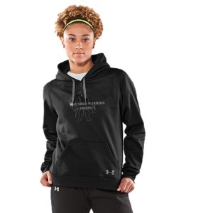 Fitness This hoodie is an Official Wounded Warrior Project Licensed productBetween August 2012 and December 2014, Under Armour(R) will make a donation of over $1 Million to Wounded Warrior Project(TM)  benefiting injured service members and their familiesThe ColdGear(R) fabric combines a brushed inner layer with a slick, fast-drying outer layerThe soft inner layer traps heat like a champ, keeping you warm and comfortableSoft, moisture-wicking interior regulates your core temp, keeping you dry and comfortableKangaroo pocket for added hand warmth and storageThree-piece hood construction for maximum comfort and superior fitHoodies have large WWP logo on front, to show who you support5.0 oz. PolyesterImported - $44.99