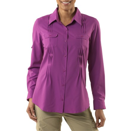 Camp and Hike You may fall in love with the comfort and flattering style of the Sun Goddess shirt from Columbia, but you'll be truly stoked with the sun protection it affords during sunny-day activities. - $24.83