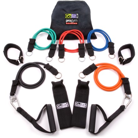 Fitness Train anywhere, anytime with the GoFit Pro Gym Extreme exercise kit. It travels easily and takes the place of bulky weights and expensive workout machines. - $47.93