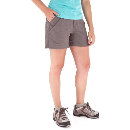 Camp and Hike These versatile shorts are made of durable, 3-ply Supplex nylon for comfort and style; perfect on the trail or around the campsite. - $12.83