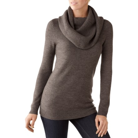 The women's Cascade Creek Cowl Neck sweater from SmartWool is soft, warm and flattering. - $96.73