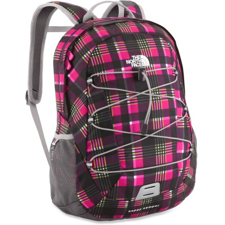 Camp and Hike The North Face Happy Camper pack offers 3- to 5-year olds a small version of the adult Borealis. This colorful and comfortable pack hauls books and folders to class or outdoor gear on the trail. - $21.83