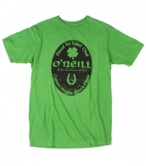 Surf O'Neill Dublin Tee.  100% Cotton.  Screenprint. - $13.99
