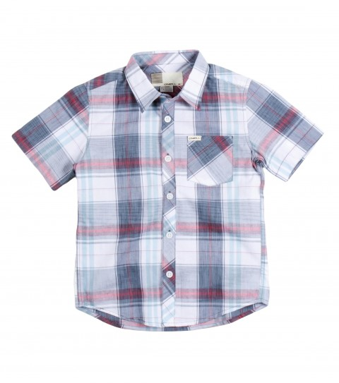 Surf O'Neill Kids Woodson Shirt. 55% Cotton / 45% Polyester. Yarn dye with space-dye woven with bio wash and mill finish. Standard fit; bias pocket and front placket; logo embroideries and labels. - $38.00