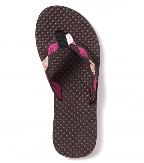 Entertainment O'Neill Girls Little Tides Sandals.  Jacquard ribbon strap with webbing toe post; embossed EVA topsole contrast stripe at midsole; custom TPR outsole and logo flag label. - $14.99