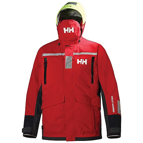 Free Shipping. Helly Hansen Men's Offshore Jacket DECENT FEATURES of the Helly Hansen Men's Offshore Jacket Helly Tech Professional 3 layer quickdry construction 3/4-length regular fit Extra high ocean collar Polartec fleece collar Fully adjustable hood EN-471 hi-vis hood fabric Stove away face visor Double storm flap Adjustable double cuffs Waist adjustment Solas reflectives Polartec handwarmer pockets Large cargo pockets Articulated arms and elbows One hand adjustable hem Hanger hook The SPECS Regular fit 100% Polyamide This product can only be shipped within the United States. Please don't hate us. - $699.95