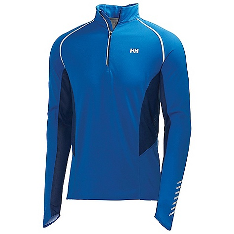 Free Shipping. Helly Hansen Men's Pace 1-2 Zip LS 2 Top DECENT FEATURES of the Helly Hansen Men's Pace 1/2 Zip Long Sleeve 2 Top HH COOL Main fabric Light weight open synethetic mesh in back and under arms Chest zip with locking function Curved cuff shape Reflective details The SPECS Fitting: Fitted 59% Polyester, 41% Polypropylene This product can only be shipped within the United States. Please don't hate us. - $69.95