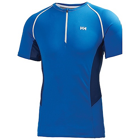 Free Shipping. Helly Hansen Men's Pace 1-2 Zip SS 2 Top DECENT FEATURES of the Helly Hansen Men's Pace 1/2 Zip Short Sleeve 2 Top HH COOL main fabric Light weight open synethetic mesh in back and under arms Chest zip with locking function Curved cuff shape Reflective details The SPECS Fitting: Fitted 59% Polyester, 41% Polypropylene This product can only be shipped within the United States. Please don't hate us. - $59.95