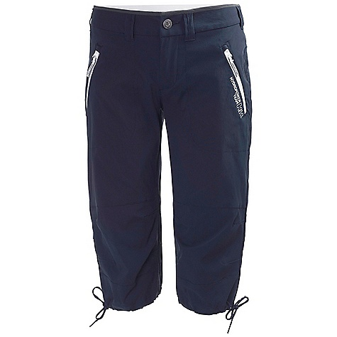 Free Shipping. Helly Hansen Women's HP Quick Dry 3-4 Pant DECENT FEATURES of the Helly Hansen Women's HP Quick Dry 3/4 Pant Quick dry fabric Polyamide Elastane 3/4 length Knee drawstrings Regular feminine fit Zipped pockets Belt loops Button front Articulated knees YKK zippers Edgeband The SPECS Regular fit 96% Polyamide, 4% Elastane This product can only be shipped within the United States. Please don't hate us. - $109.95