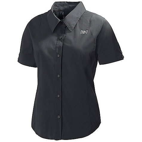 Free Shipping. Helly Hansen Women's Symphony SS Shirt DECENT FEATURES of the Helly Hansen Women's Symphony Short Sleeve Shirt Quick dry fabric Polyamide Elastane UPF 30+ Button front Regular fit HH Outline logo on chest Button sleeves Contrast neck band The SPECS Regular fit 92% Polyamide, 8% Elastane This product can only be shipped within the United States. Please don't hate us. - $64.95