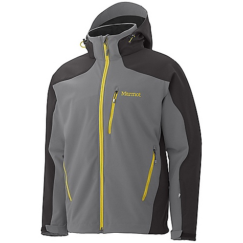 Entertainment Free Shipping. Marmot Men's Vertical Jacket DECENT FEATURES of the Marmot Men's Vertical Jacket Marmot M1 Softshell Windproof, Waterproof, and Breathable 4 way Stretch Fabric PitZips Zip-off Storm Hood with Laminated Brim Zippered Handwarmer Pockets Zippered Chest Pocket Zippered Sleeve Pocket Zip-off Powder Skirt Internal Zippered Media Pocket HD Brushed Tricot Collar Lining Elastic Draw Cord Hem Adjustable Velcro Cuff Angel-Wing Movement The SPECS Weight: 2 lbs 2.2 oz / 969.6 g Center Back Length: 28.75in. Fit: Regular Softshell WPB 88% Nylon 12% Elastane 9.2 oz/yd - $284.95