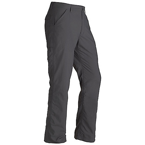 Free Shipping. Marmot Men's Grayson Pant DECENT FEATURES of the Marmot Men's Grayson Pant Blue Sign Approved Fabric Packable, Breathable, Lightweight Performance Woven Fabric Ultraviolet Protection Factor (UPF) 40 Durable Water-Resistant Finish (DWR) Abrasion Resistant Nylon Fabric Quick-Drying and Wicking Side Pocket Velcro Closure Back Pockets DriClime Interior Waistband for Added Comfort The SPECS Weight: 8.6 oz / 243.8 g Material: 100% Nylon Plain Weave 3.6 oz/yd Fit: Regular Inseam: short: 30in., regular: 32in., long: 34in. - $64.95