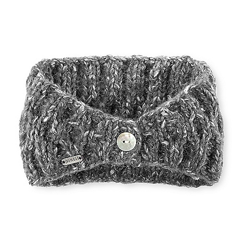 On Sale. Pistil Women's Petra Headband DECENT FEATURES of the Pistil Women's Petra Headband Hand knit super soft cable headband With a shell button closure Coordinates with fizz beanie Robin wristlet and indy neck warmer The SPECS Polyester Cotton blend Imported - $18.99