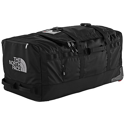 Entertainment Free Shipping. The North Face Rolling Thunder Wheeled Duffel - Large DECENT FEATURES of The North Face Rolling Thunder Wheeled Duffel - Large G-cart frame with aluminum chassis for structure and reinforcement Large main compartment with internal compression straps and zippered mesh pocket Separate end compartment with internal padded sleeve and zippered mesh pocket End pocket fits passport/airline tickets Durable custom wheels and wheel housing Protective skid rails Bottom, top-and side-carry handles The SPECS Average Weight: 11 lbs 10 oz / 5275 g Volume: 7325 cubic inches / 120 liter Dimension: 31.5 x 16 x 14in. / 80 x 41 x 36 cm Phthalate-free TPE fabric laminate 840D Jr. ballistics nylon OVERSIZE ITEM: We cannot ship this product by any expedited shipping method (3-Day, 2-Day or Next Day). Even if you pick that option, it will still go Ground Shipping. Sorry for being so mean. This product can only be shipped within the United States. Please don't hate us. - $298.95