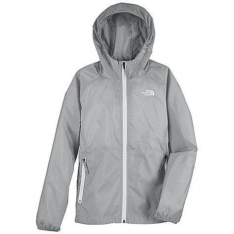 The North Face Girls' Altimont Hoodie DECENT FEATURES of The North Face Girls' Altimont Hoodie Fixed hood Zippered hand pockets Elastic binding at hood, cuffs and hem Screen-printed logo at left chest and back right shoulder The SPECS Average Weight: 6.2 oz / 177 g Center Back Length: 22in. 70D 73 g/m2 100% nylon ripstop with PU coating and WR finish This product can only be shipped within the United States. Please don't hate us. - $39.95