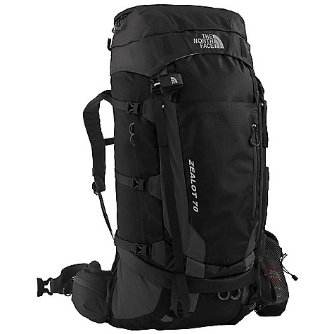 On Sale. Free Shipping. The North Face Zealot 70 Pack DECENT FEATURES of The North Face Zealot 70 Pack Welded, waterproof ripstop 315D auto-airbag fabric is impervious to the elements X Radial 2.0 frame is advanced, light and exceptionally strong Opti Fit adjustment system assures correct fit Moldedfoam back panel, anatomical hipbelts and shoulder harness with moisture-wicking Dri-Lex fabric Anatomically engineered dual-pivot hipbelt correctly distributes load Stowable, deployable side water bottle pocket holds a one-liter water bottle Abundant pockets and organization make packing and unpacking easy Multiple exterior lash points provide technical versatility The SPECS 315D ripstop PU double side 315D ripstop PU single side 70D double ripstop The SPECS for Small Average Weight: 5 lbs 2265 g Volume: 3965 cubic inches / 65 liter Extra Volume: 4570 cubic inches / 75 liter The SPECS for Medium Average Weight: 5 lbs 4 oz / 2399 g Volume: 4270 cubic inches / 70 liter Extra Volume: 4880 cubic inches / 80 liter The SPECS for Large Average Weight: 5 lbs 7 oz / 2465 g Volume: 4570 cubic inches / 75 liter Extra Volume: 5180 cubic inches / 85 liter OVERSIZE ITEM: We cannot ship this product by any expedited shipping method (3-Day, 2-Day or Next Day). Even if you pick that option, it will still go Ground Shipping. Sorry for being so mean. This product can only be shipped within the United States. Please don't hate us. - $238.99