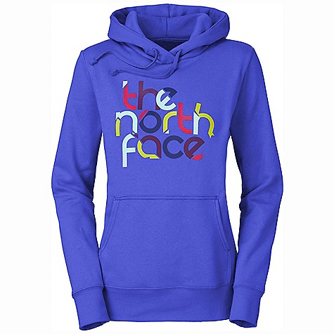 The North Face Women's Logo Scramble Pullover Hoodie DECENT FEATURES of The North Face Women's Logo Scramble Pullover Hoodie Soft, comfortable, easy-care fabric The North Face logo screen-printed at chest Hood with drawstring closure Kangaroo hand pocket 1x1 rib at cuffs and hem The SPECS Average Weight: 16 oz / 453 g Center Back Length: 25.25in. 280 g/m2 80% cotton 20% polyester fleece This product can only be shipped within the United States. Please don't hate us. - $44.95