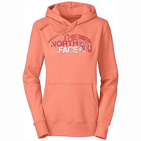 The North Face Women's Delia Dome Pullover Hoodie DECENT FEATURES of The North Face Women's Delia Dome Pullover Hoodie Soft, comfortable, easy-care fabric The North Face logo screen-printed at chest Hood with drawstring closure Kangaroo hand pocket 1x1 rib at cuffs and hem The SPECS Average Weight: 16 oz / 453 g Center Back Length: 25.25in. 280 g/m2 80% cotton 20% polyester fleece This product can only be shipped within the United States. Please don't hate us. - $45.00