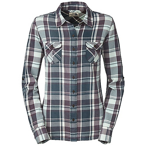 On Sale. Free Shipping. The North Face Women's Suncrest Flannel DECENT FEATURES of The North Face Women's Suncrest Flannel Two chest pockets with button flap closure Roll-up sleeve feature Chest and back darts Woven label on inside center front placket Imported The SPECS Average Weight: 10 oz / 280 g Center Back Length: 25.5in. Body: 180 g/m2 100% cotton yarn-dyed brushed plaid flannel Finish: Enzyme washed, vintage sprayed This product can only be shipped within the United States. Please don't hate us. - $55.99