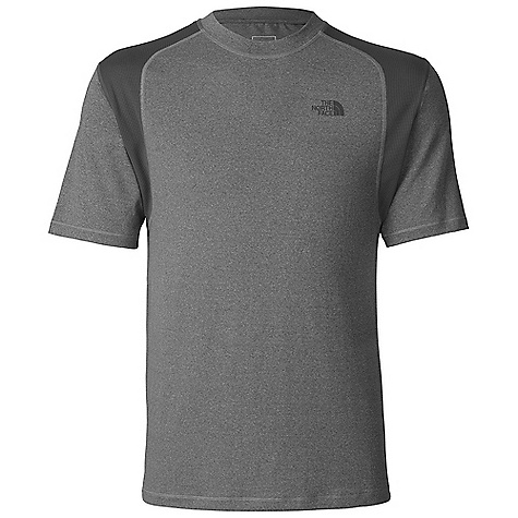 The North Face Men's Paramount Tech Tee DECENT FEATURES of The North Face Men's Paramount Tech Tee Midweight sueded polyester elastane moves with you for active pursuits Contrast polyester knit at shoulders and underarm for ease of movement and pack compatibility Flat-locked stitching for comfort and durability Ultraviolet Protection Factor (UPF) 30 The SPECS Average Weight: 6 oz / 180 g Center Back Length: 27in. 148 g/m2 (5.22 oz/yd2) 94% polyester, 6% elastane stretch knit This product can only be shipped within the United States. Please don't hate us. - $34.95