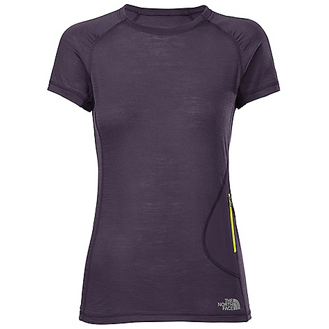 Climbing Free Shipping. The North Face Women's S-S Litho Tee DECENT FEATURES of The North Face Women's Short Sleeve Litho Tee Athletically cut and pattern mapped with vertical activity in mind Intuitive, easy-access, zippered pocket secures essentials No-rise hem is slightly longer in the back Summit Series Verto Climb Collection has a climbing-specific fit designed for vertical movement Summit Series Collection is harness and pack-compatible Imported The SPECS Average Weight: 3.6 oz / 105 g Center Back Length: 25.5in. 145 g/m2 19.0 micron 100% merino wool jersey This product can only be shipped within the United States. Please don't hate us. - $79.95