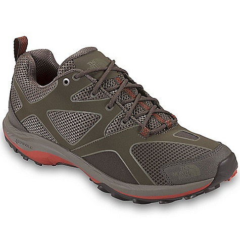Camp and Hike Free Shipping. The North Face Men's Hedgehog Guide Shoe DECENT FEATURES of The North Face Men's Hedgehog Guide Shoe Upper: Leather toe cap for durability Welded, synthetic-leather forefoot Welded, synthetic, overlay-reinforced midfoot Abrasion-resistant, breathable mesh Gusseted tongue Northotic Pro 2.0 footbed Bottom: Dual-density, molded, EVA Cradle Guide midsole platform TPU shank for lightweight support TPU Snake Plate forefoot protection Exclusive lightweight Vibram rubber outsole The SPECS Last: TNF-001 Approx Weight: 1/2 pair: 12.4 oz / 351 g, pair: 1 lb 8 oz / 702 g This product can only be shipped within the United States. Please don't hate us. - $109.95