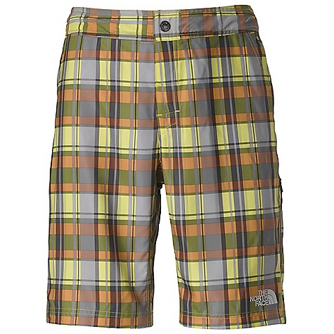 Surf Free Shipping. The North Face Men's Pacific Creek Print Boardshort DECENT FEATURES of The North Face Men's Pacific Creek Print Boardshort Quick-drying durable performance polyester Four-way stretch back panel for range of motion Snap closure at waist and Velcro on fly Waistband has contrasting color detail Hand pockets for multi-use appeal Full crotch gusset Secure-zip pocket with drain hole and key loop Relaxed fit Ultraviolet Protection Factor (UPF) 50 Imported The SPECS Average Weight: 8 oz / 220 g Inseam: regular: 10in. 75D 130 g/m2 (4.58 oz/yd2) 100% polyester This product can only be shipped within the United States. Please don't hate us. - $54.95
