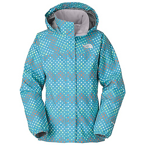 Free Shipping. The North Face Girls' Dottie Resolve Jacket DECENT FEATURES of The North Face Girls' Dottie Resolve Jacket Waterproof, breathable, fully seam sealed Mesh-lined body Brushed collar lining Hood stows in collar Zippered hand pockets Center front zip and Velcro stormflap closure Elasticized cuffs Chin guard flap ID label Embroidered logo at left chest and back right shoulder Imported The SPECS Average Weight: 13 oz / 360 g Center Back Length: 23.5in. Body: 75D 105 g/m2 HyVent 2L-100% polyester plain weave Lining: 50D 50 g/m2 100% polyester mesh This product can only be shipped within the United States. Please don't hate us. - $74.95
