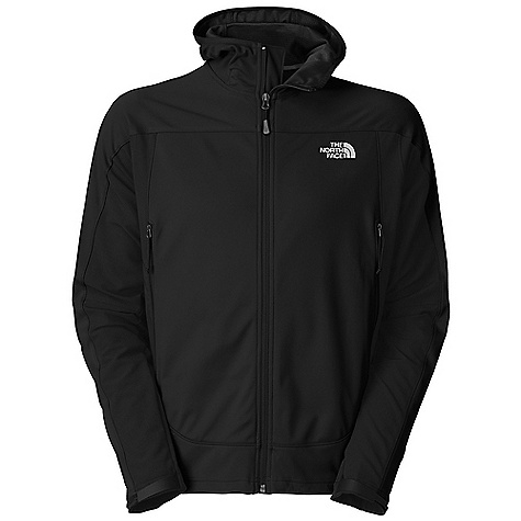 Free Shipping. The North Face Men's Cipher Hybrid Hoodie DECENT FEATURES of The North Face Men's Cipher Hybrid Hoodie Gore Wind Stopper Soft Shell fabric wind permeability rated at 0 CFM TNF Apex Aerobic soft shell fabric; wind permeability rated at 10 CFM on underarm and side panels Attached hood with elastic-bound edge Brushed collar lining Reverse-coil zips Two secure-zip hand pockets Molded cuff tabs Hem cinch-cord Alpine fit Alpine pockets Non-abrasive, molded cuff tabs Imported The SPECS Average Weight: 18.9 oz / 640 g Center Back Length: 28in. Shell: 203 g/m2 (7.161 oz/yd2) 100% polyester 3L Gore Wind Stopper with DWR Panels: 90D 246 g/m2 (8.68 oz/yd2) 90% polyester, 10% elastane four-way stretch TNF Apex Aerobic soft shell with DWR This product can only be shipped within the United States. Please don't hate us. - $169.95