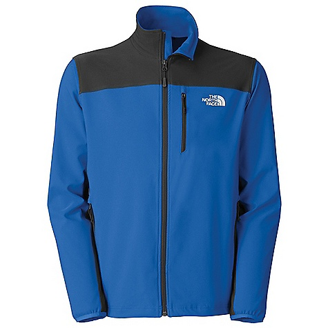 On Sale. Free Shipping. The North Face Men's Nimble Jacket DECENT FEATURES of The North Face Men's Nimble Jacket TNF Apex Aerobic fabric, the most stretchable of all Apex fabrics, and wind permeability rated at 10-15 CFM Napoleon chest pocket Two secure-zip hand pockets Elastic-bound cuffs Hem cinch-cord adjustment in pockets The SPECS Average Weight: 15 oz / 430 g Center Back Length: 28in. 90D 246 g/m2 (8.68 oz/yd2) 90% polyester, 10% elastane four-way stretch TNF Apex Aerobic soft shell with DWR This product can only be shipped within the United States. Please don't hate us. - $71.96