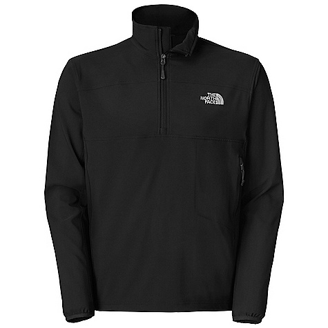 Free Shipping. The North Face Men's Nimble Zip Shirt DECENT FEATURES of The North Face Men's Nimble Zip Shirt TNF Apex Aerobic fabric, the most stretchable of all Apex fabrics, and wind permeability rated at 10-15 CFM Secure zip side pocket Quarter-length front zip Elastic-bound cuffs Hem cinch-cord The SPECS Average Weight: 13 oz / 370 g Center Back Length: 28in. 90D 246 g/m2 (8.68 oz/yd2) 90% polyester, 10% elastane four-way stretch TNF Apex Aerobic soft shell with DWR This product can only be shipped within the United States. Please don't hate us. - $69.95