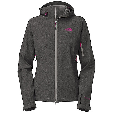 Free Shipping. The North Face Women's Burst Rock Jacket DECENT FEATURES of The North Face Women's Burst Rock Jacket Waterproof, breathable, seam sealed Attached, fully adjustable hood with low-profile drawcord system Two alpine secure hand pockets with venting Secure bicep pocket Self fabric cuff tabs Hem cinch-cord adjustment in pockets Jacket stows in hand pocket Imported The SPECS Average Weight: 18 oz / 510 g Center Back Length: 27in. 80D 180 g/m2 (6.349 oz/yd2) 54% nylon, 32% polyester, 14% elastane HyVent 2.5L This product can only be shipped within the United States. Please don't hate us. - $179.95